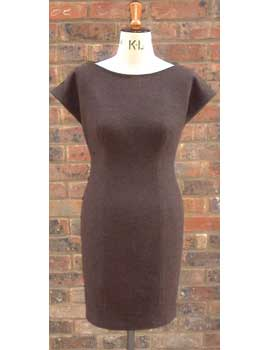 Brown Cap Sleeve Dress