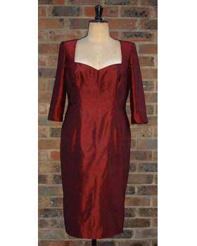 Burgundy Shift Dress