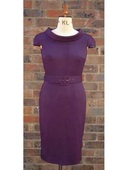 Purple Jersey Shift Dress