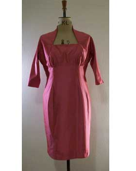Empire Shift with Queen Anne Neckline, Pink