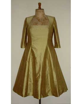 Gold Sik Dupion Dress