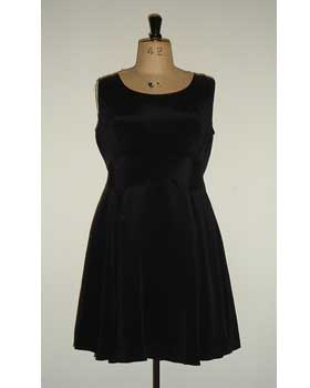 Black Silk Crepe Party Dress