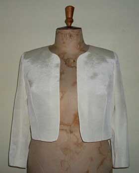 Cream Coloured Faille Bolero Jacket