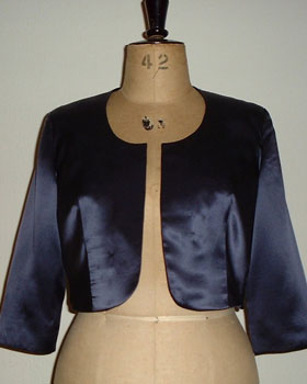 Blue Satin Bolero Jacket