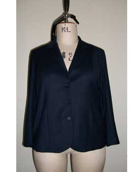 Plus Size Tailored Jacket Navy