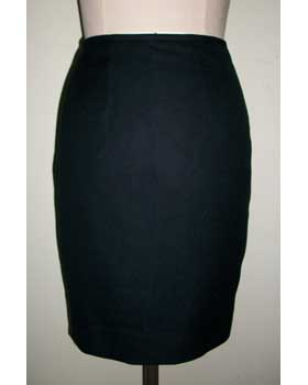 Black Cashmere and Cotton Skirt