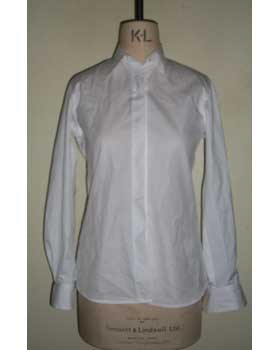 Concealed Placket Shirt In Fine Cotton