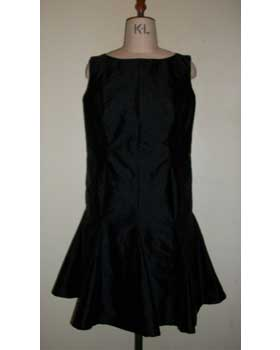 Black dress with godets