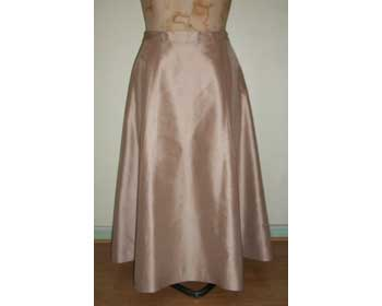 Beige A Line Floor Length Skirt