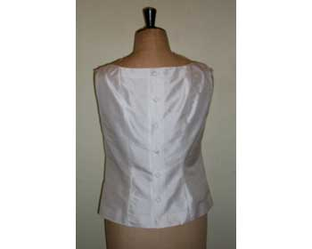 Ivory Dupion Shell Top