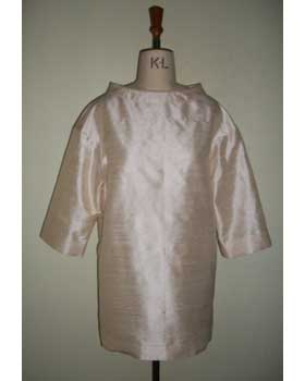 Smock Top in Silk Dupion