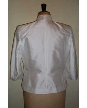 Jacket in Ivory Dupion