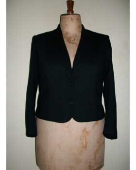 Black Wool Crepe Jacket