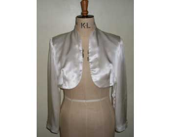 Ivory Satin Wedding Bolero